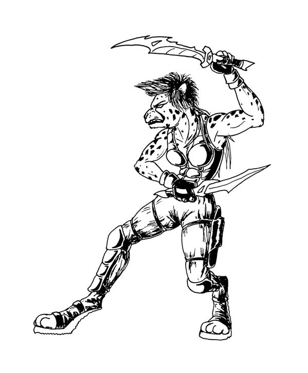Cheetah Warrior by DieMax on DeviantArt