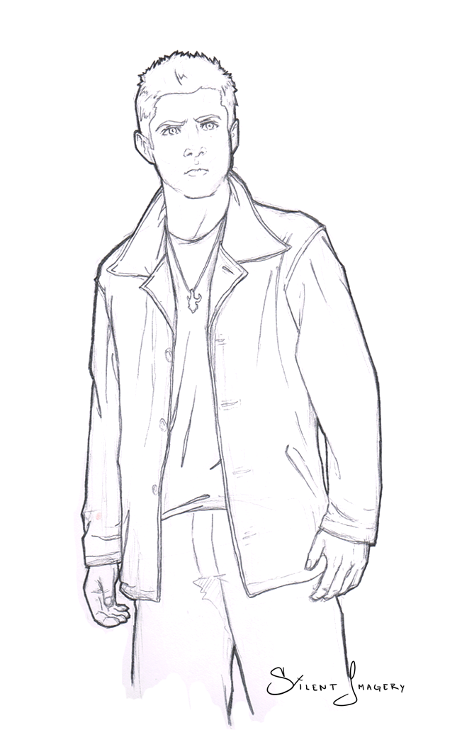Dean winchester sketch by silentimagery on deviantart for Supernatural coloring pages