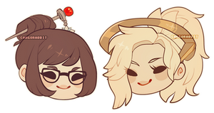 Mei and Mercy icons by Cargorabbit