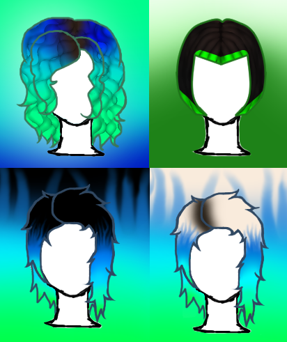 Hairstyles by Nightmarezombiegirl