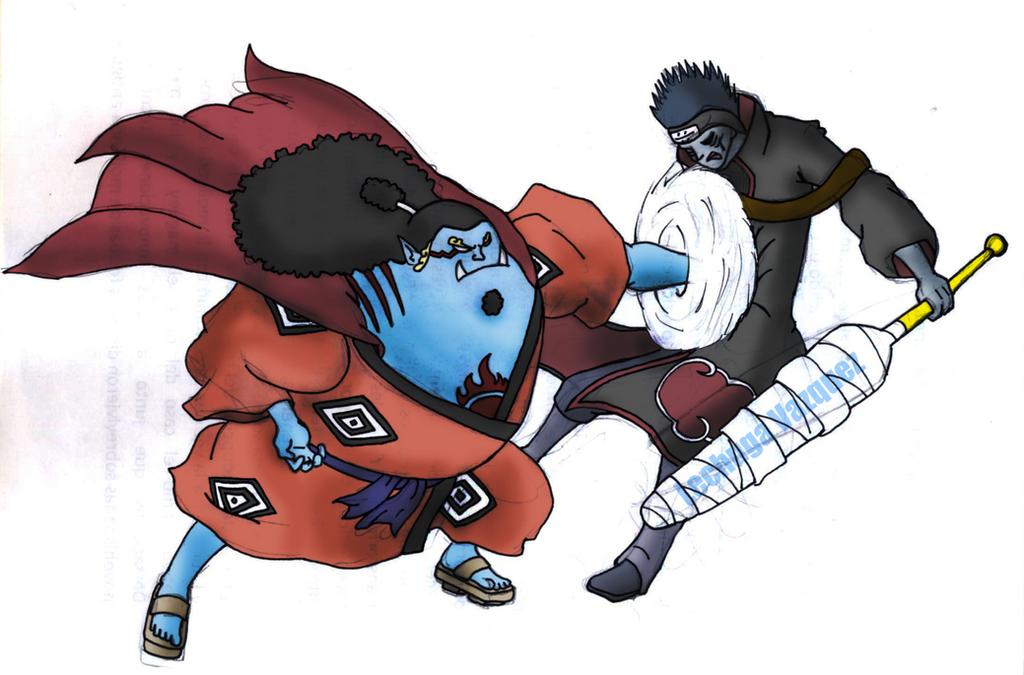Jinbei vs kisame - One piece by LESHUU