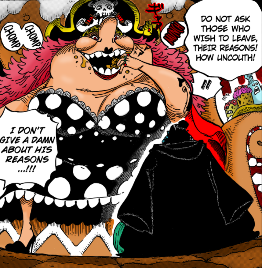 One Piece 830 - Big Mom and Jinbe by LESHUU