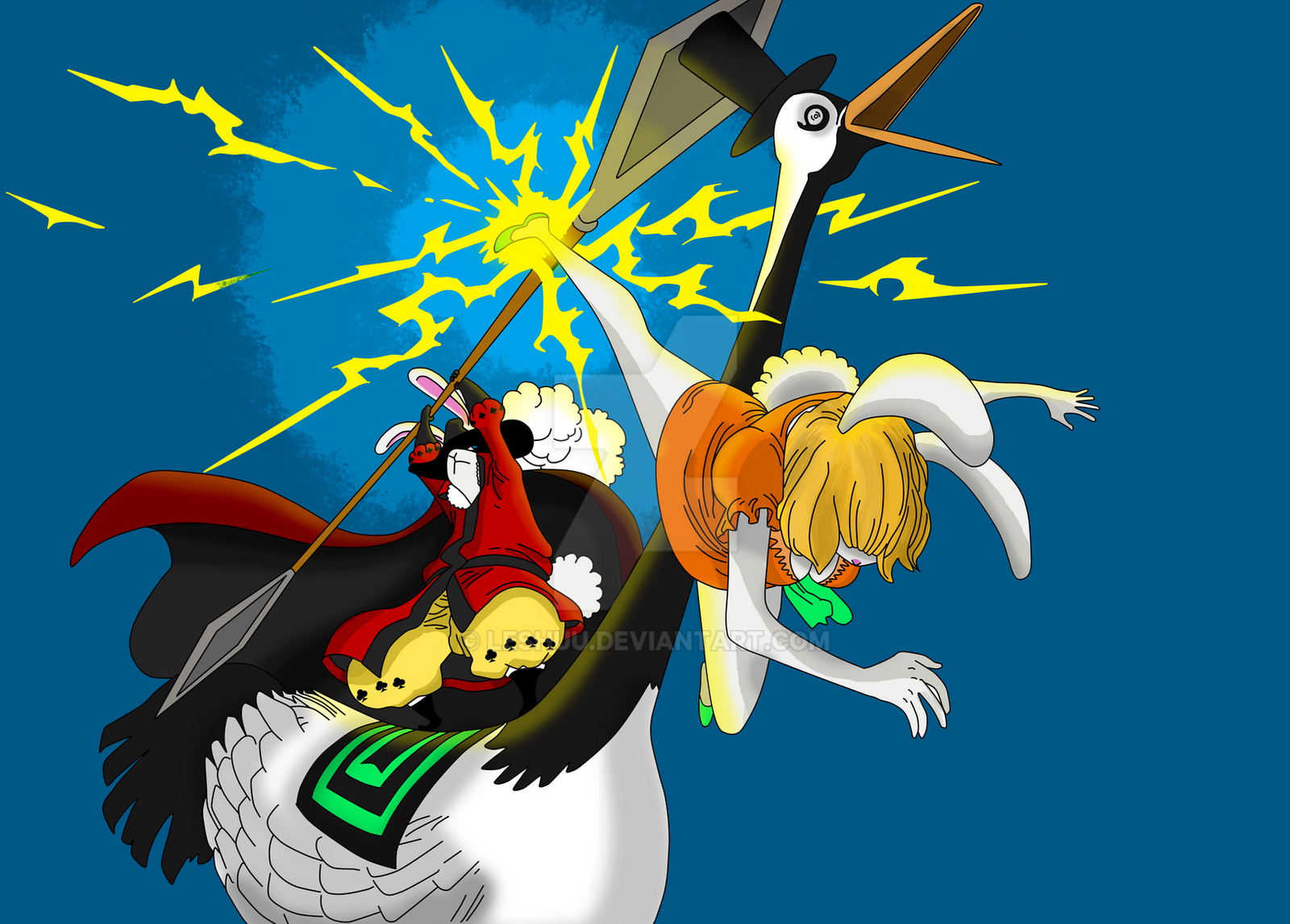 One Piece 832 - Carrot Vs Randolph by LESHUU