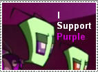 I Support Purple Stamp by BentMetal64