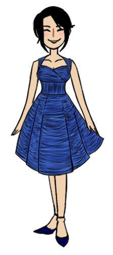 Tumblr Doodle: Adara Curtis in a dress by DuckOfEpicFail