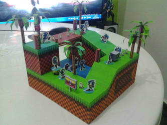 Green Hill Diorama by Metamorfico