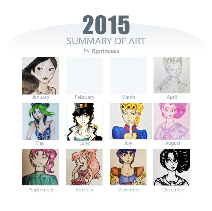 2015 Art Summary by Rjprincess