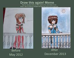 Draw this again meme by Dark-Angel167