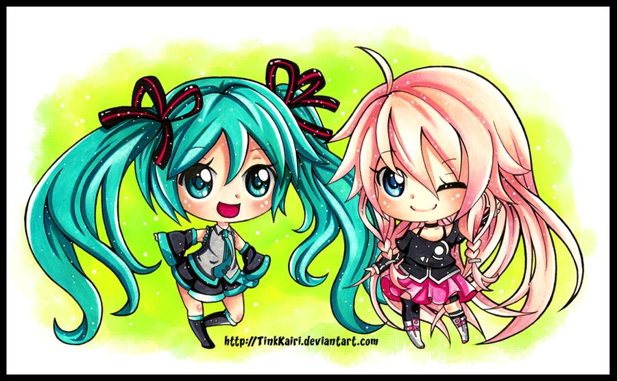 .:MIku and IA:. by Tink-desu