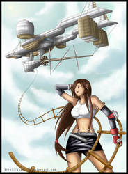 FF7: Tifa and The Highwind by AyaK-JP