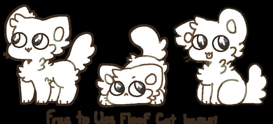 f2u floofy cat bases by pawkitten on deviantart