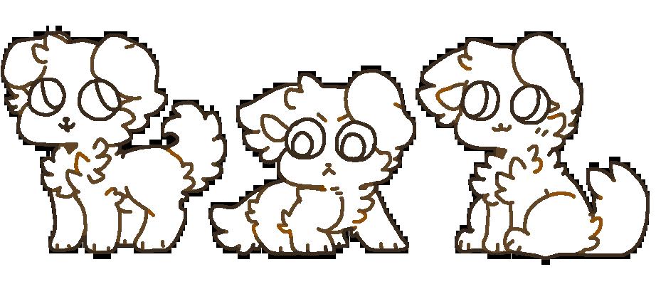 f2u floofy dog bases by pawkitten on deviantart