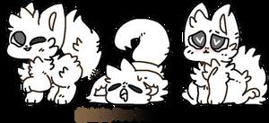 f2u floofy (fennec) fox bases