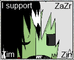 I support ZaZr (Zim and Zin romance) by IllegalKoopas