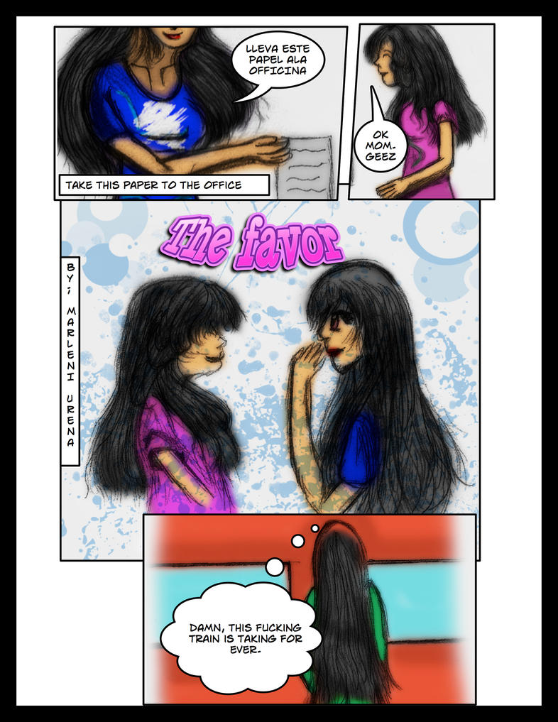 The favor web comic by marleni16
