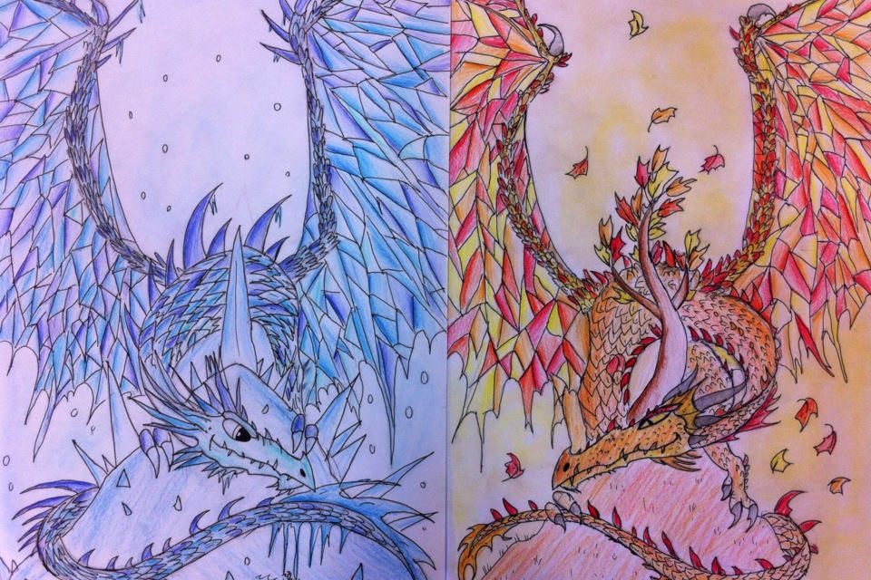 Icicle dragon and the Maple dragon