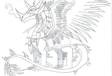Pythia the Oracle Dragon by Viperwings