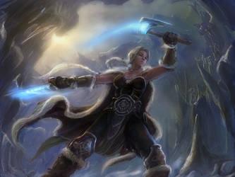 Shadowar, Astrid, Fierce Twin Slash by TheFirstAngel