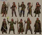 Legend of Spirehold Character Designs
