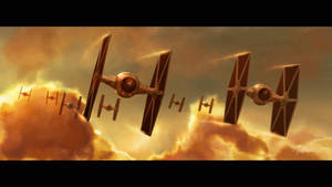 Tie Fighter Patrol over Bespin
