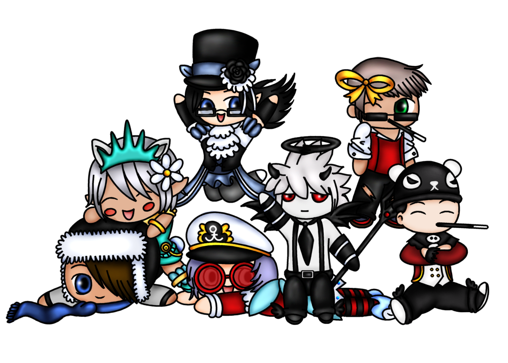Chibis Everywhere by pandy0