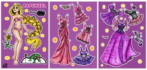Rapunzel paper doll.