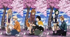 BnHA FC YCH: Cat and Sakura Compilation 4