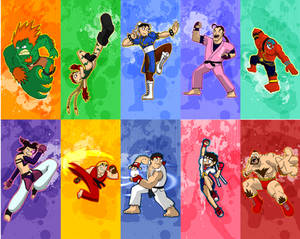 Street Fighter characters pt 1