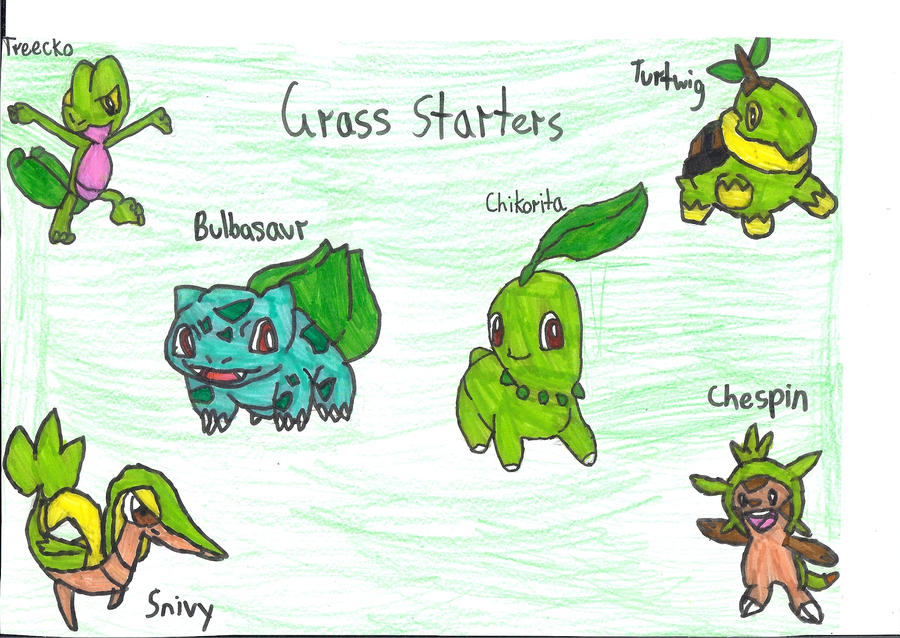 Grass Pokemon Characters Images | Pokemon Images