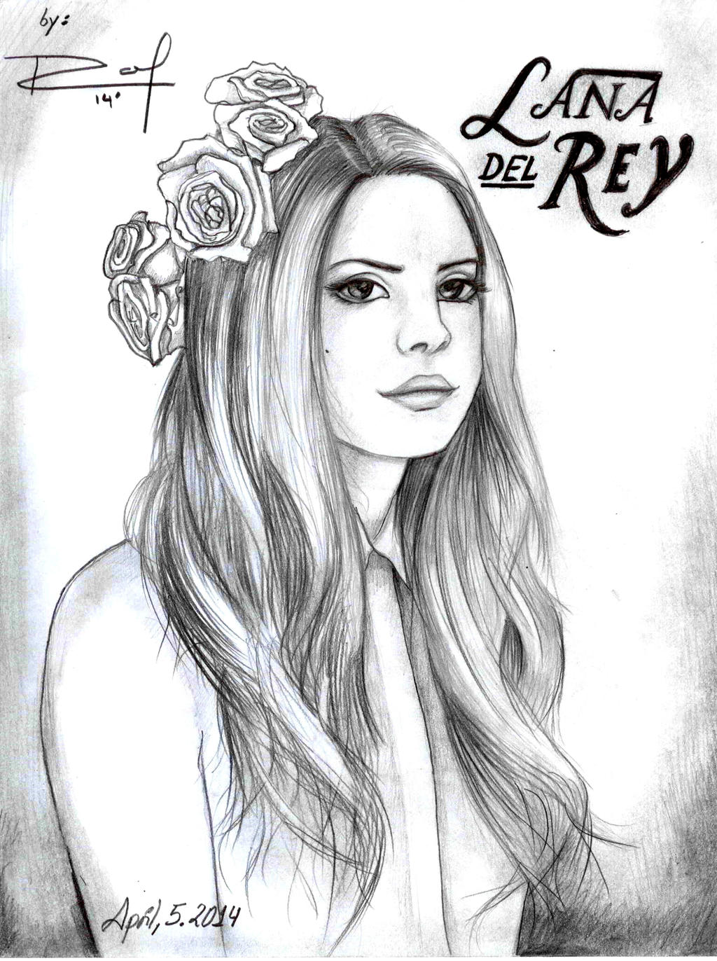 Lana Del Rey Art By Rafael Angel On Deviantart