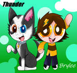 Brylee and Thunder.