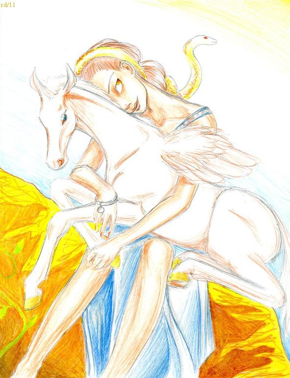 Pegasus and Medusa by Rayless-Night