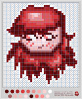 Red evil girl icon tutorial