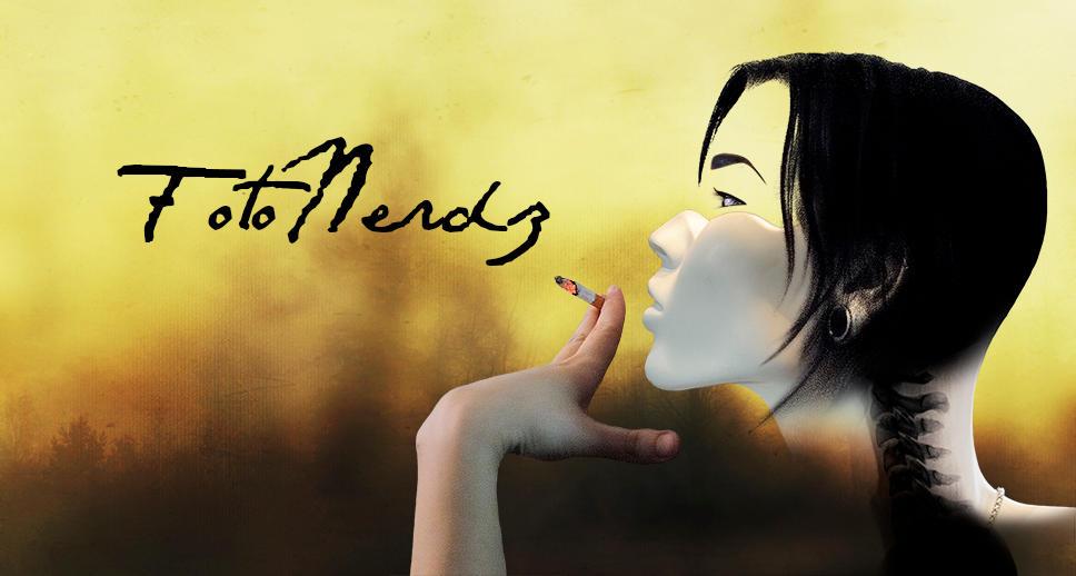 Faceless Smoking Lady