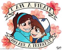 I am a pirate // You are a princess