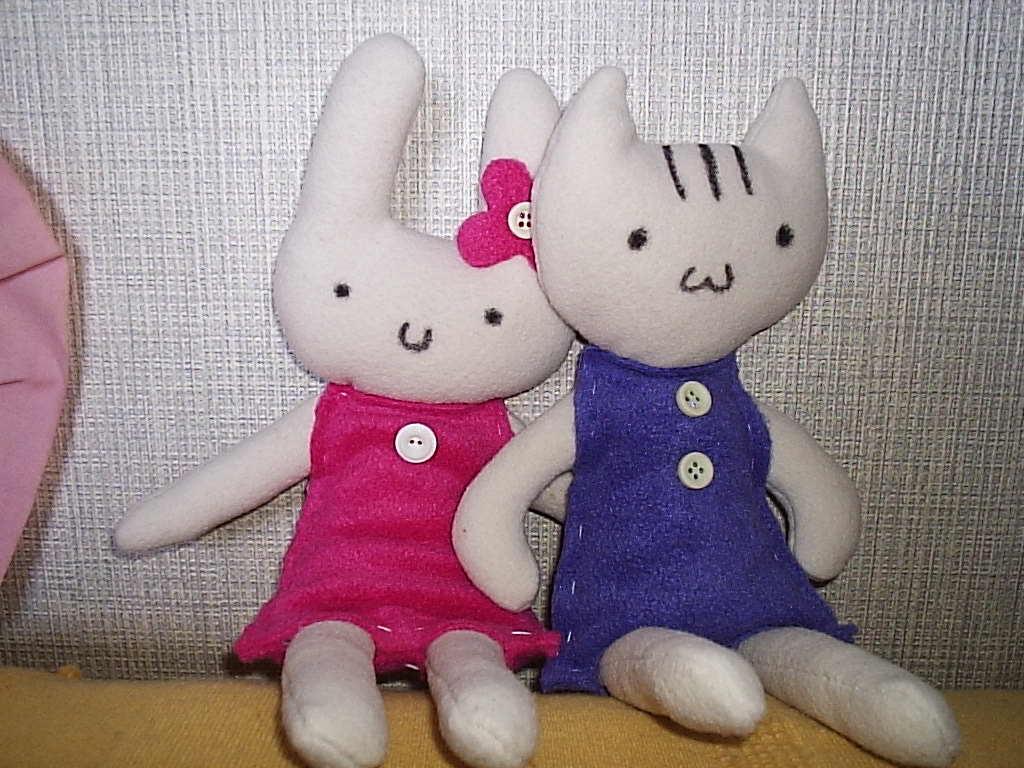 Bunny and Kitty by Piripanda