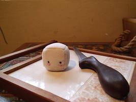 Chibi chubby baby tofu by Piripanda