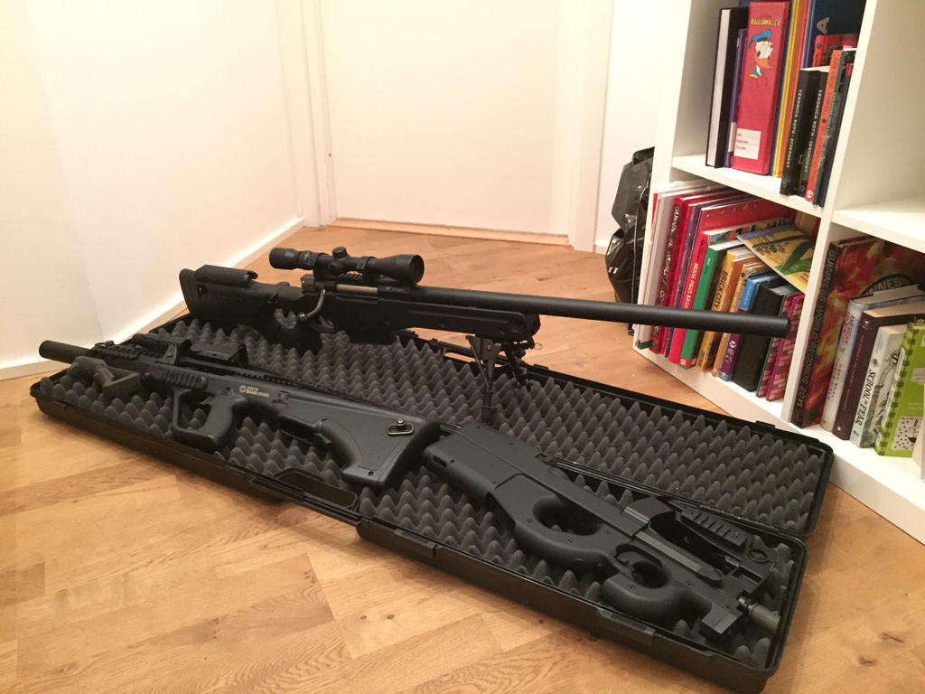 airsoft gun collection minus magpul fpg by thetnknownbrony on