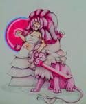 Rose Quartz and Lion