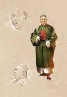 Guan Yu in plain clothes by TamasGaspar