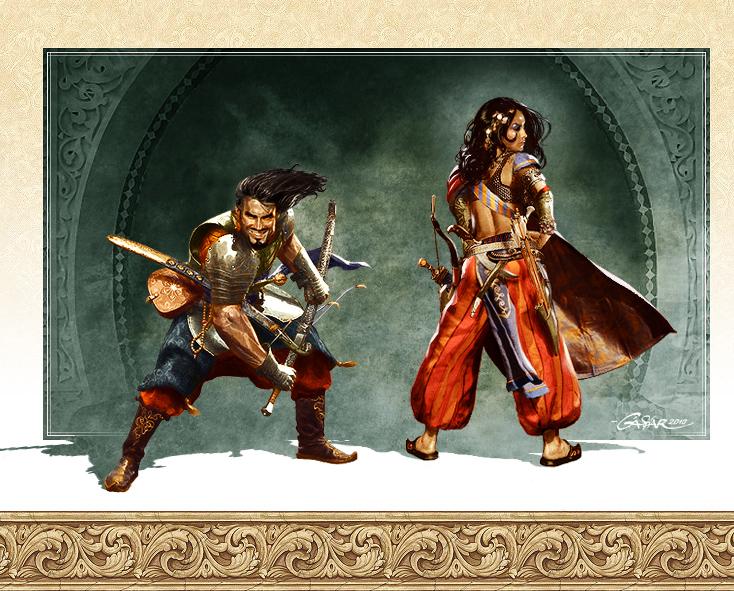 Warrior and Rogue by TamasGaspar