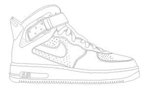 Nike AIR Jordan AJF template