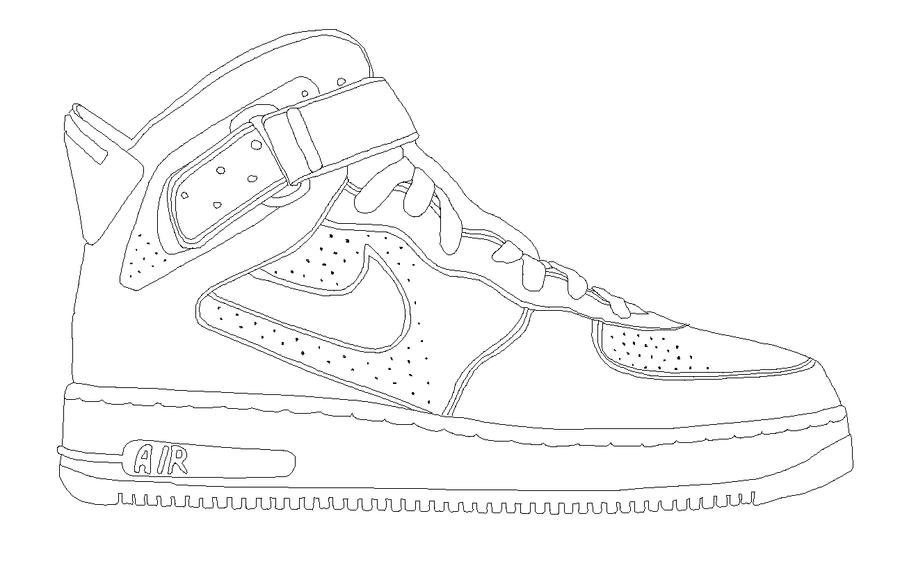 Nike Shoe Line Drawing