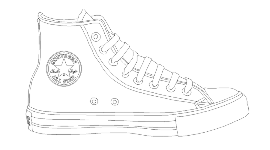converse coloring pages printable - photo#5