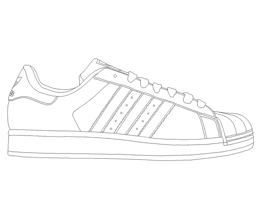 adidas shoe template sketch coloring page