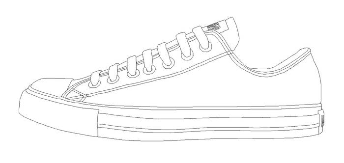 Converse ALL STAR low template