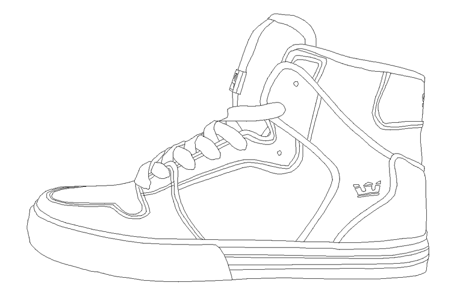Kd 7 shoes coloring coloring coloring pages for Kd coloring pages
