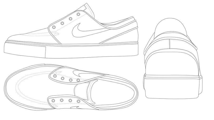 Nike Shoes Photoshop Template