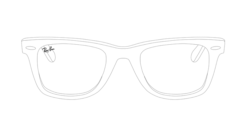 Line Drawing Glasses : Ray ban template by katus nemcu on deviantart