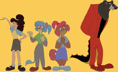 Commission: Suki, Amy, Sarah, and Dr. Nightmare by Kosperry